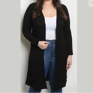 🆕 ZENOBIA Plus Size Duster Cardigan 1X Black 1XL